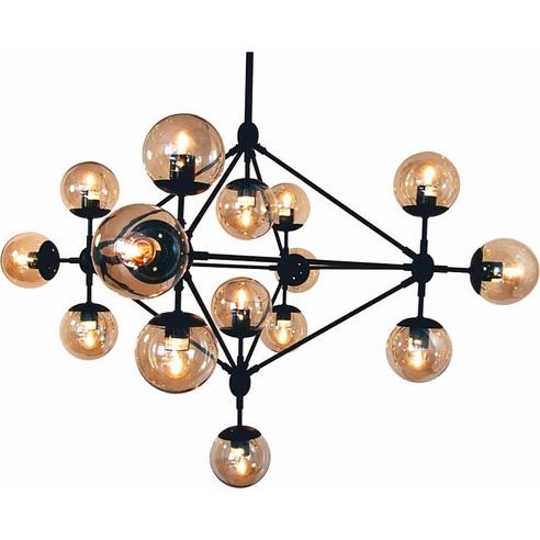 Lampa wisząca ASTRIFERO 15 czarno bursztynowa Step Into Design
