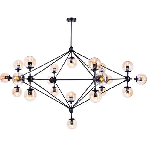 Lampa wisząca ASTRIFERO 21 czarno bursztynowa Step Into Design