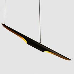 Lampa wisząca BLACK TUBE czarno złota Step Into Design
