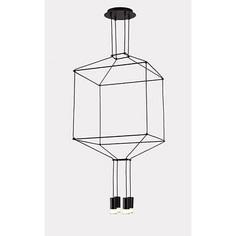 Lampa wisząca LINEA - 4 czarna Step Into Design