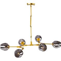 Lampa wisząca MODERN ORCHID 6 złoto-szara Step Into Design