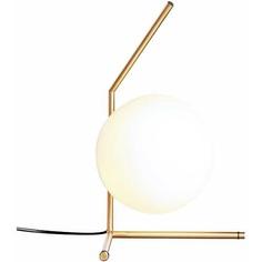 Lampa stołowa SOLARIS biało mosiężna Step Into Design