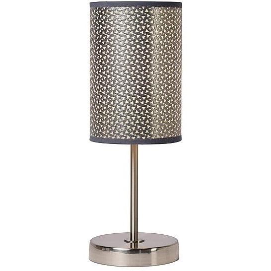 Lampa orientalna stołowa Moda 13 Srebrna Lucide do sypialni, salonu i na stół.