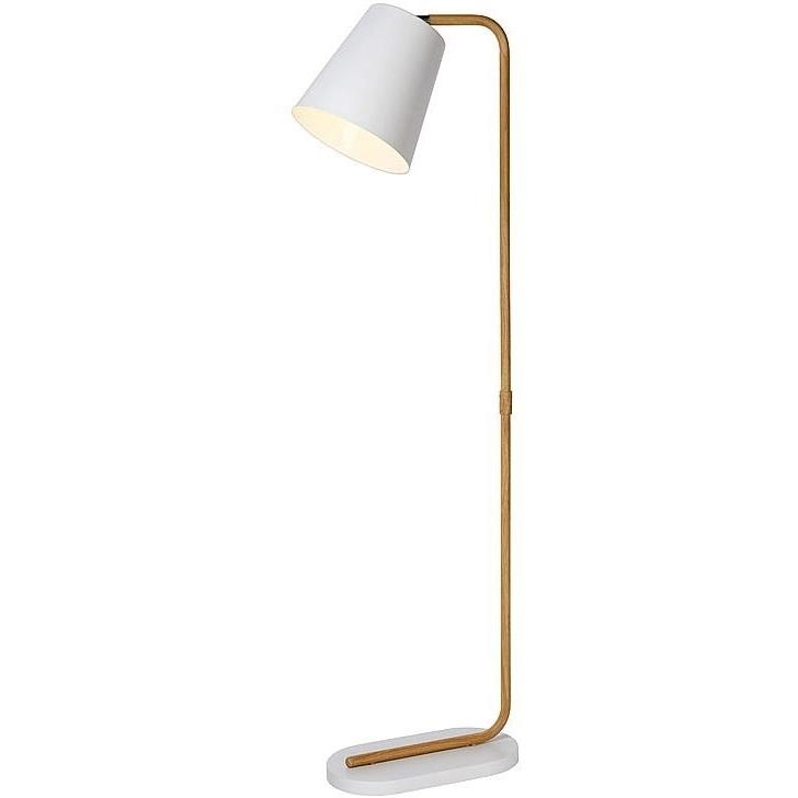Lampa podłogowa CONA biała