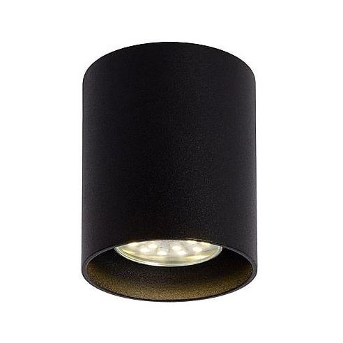 Lampa Spot tuba Bodi Okrągły Czarny 8 Lucide do kuchni, przedpokoju i i salonu.