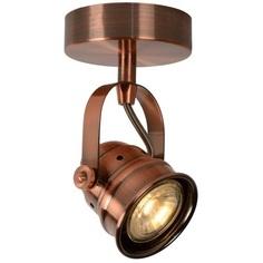 Lampa spot CIGAL LED czerwony miedziany