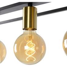 RUBEN lampa wisząca 4 czarny/mosiądz Lucide