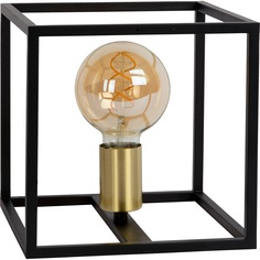 RUBEN lampa stołowa czarny/mosiądz Lucide