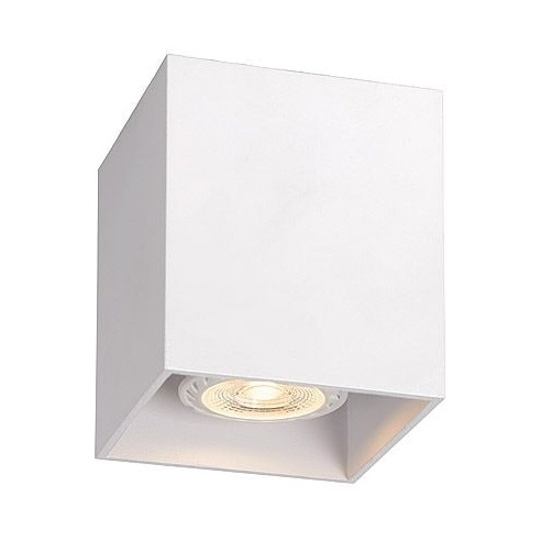 Lampa Spot Bodi Kwadratowy Biały Lucide do kuchni, przedpokoju i i salonu.