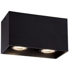 Lampa Spot podwójna Bodi II Kwadratowy Czarny Lucide do kuchni, przedpokoju i i salonu.