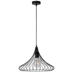 Druciana lampa wisząca VINTI czarna 39 Lucide
