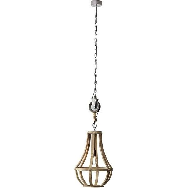 Lampa wisząca Church jasne drewno Brilliant