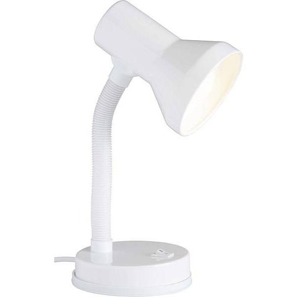 Lampa młodzieżowa biurkowa Junior Biała Brilliant na biurko do pokoju dziecięcego i młodzieżowego.