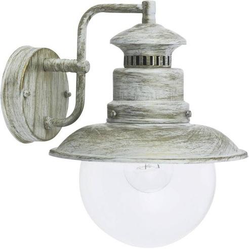 Kinkiet zewnętrzny latarnia Artu Biały Złoty Brilliant na taras, elewacje i nad drzwi.