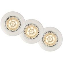 """Lampa Spot """"oczko"""" Focus LED (zestaw) Okrągły Led Ściemniany Biała Lucide do kuchni, przedpokoju i i salonu."""