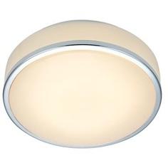 GLOBAL plafon sufitowy 28cm LED chrom/biały