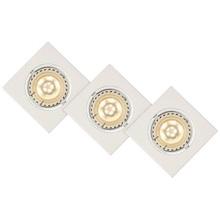 Lampa Spot Focus LED (zestaw) Kwadratowy Led Biała Lucide do kuchni, przedpokoju i i salonu.
