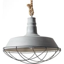 Lampa wisząca industrialna Rope 47 Betonowa Szara Brilliant do sypialni, salonu i kuchni.