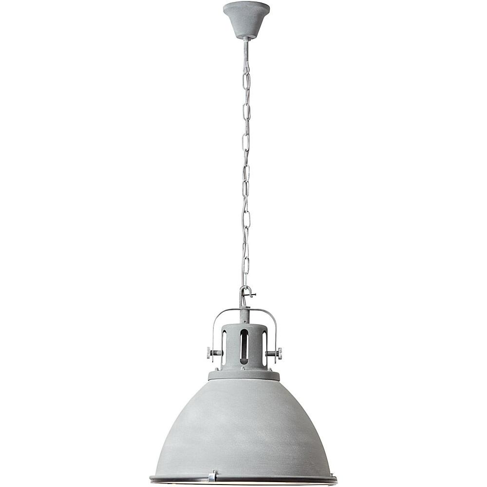 Lampa wisząca industrialna Jesper 47 Betonowa Szara Brilliant do sypialni, salonu i kuchni.