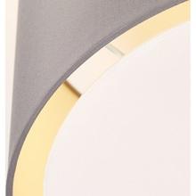 Plafon okrągły z abażurem Clarie 40 Szary Brilliant do sypialni, kuchni i przedpokoju.