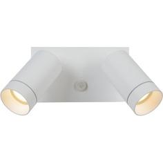 Kinkiet zewnętrzny z czujnikiem ruchu Taylor II LED biały Lucide na elewację i taras