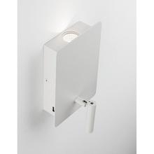 Stylowy Kinkiet regulowany z lampką i usb Teo LED biały mat do sypialni i salonu