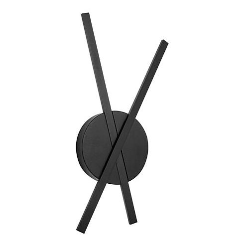 Stylowy Kinkiet podwójny minimalistyczny Tip LED czarny mat do sypialni i salonu