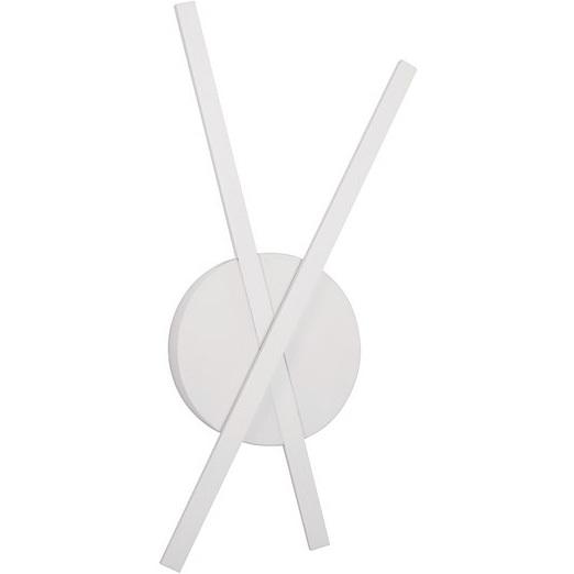 Stylowy Kinkiet podwójny minimalistyczny Tip LED biały mat do sypialni i salonu