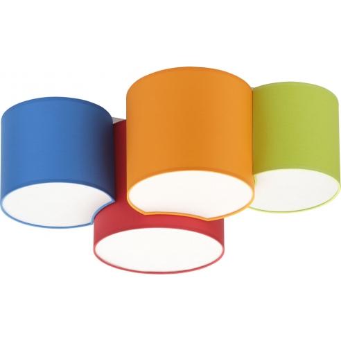 Kolorowy Plafon dziecięcy Mona Kids IV kolorowy TK Lighting do pokoju dziecięcego.