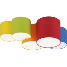 Kolorowy Plafon dziecięcy Mona Kids V kolorowy TK Lighting do pokoju dziecięcego.