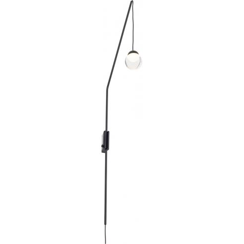 Stylowy Kinkiet wiszący designerski Zoom LED czarny MaxLight do salonu, sypialni i przedpokoju.