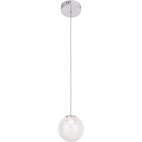 Elegancka Lampa wisząca szklana kula glamour Zoe 9 LED chrom MaxLight do salonu i jadalni.