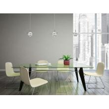 Elegancka Lampa wisząca kula glamour Uranos LED biała MaxLight do salonu i jadalni.