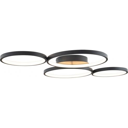 Punktowy Plafon nowoczesny 4 punktowy Velvet LED MaxLight przedpokoju i kuchni.