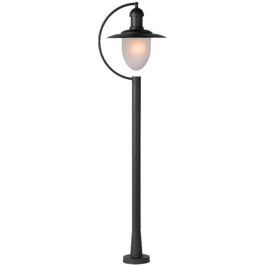 Lampa zewnętrzna stojąca retro Aruba Czarna Lucide przed dom i podjazd.