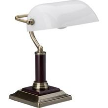 Stylizowana Lampa biurkowa bankierska Bankir Antyczny Mosiądz Brilliant do hotelu i restauracji.