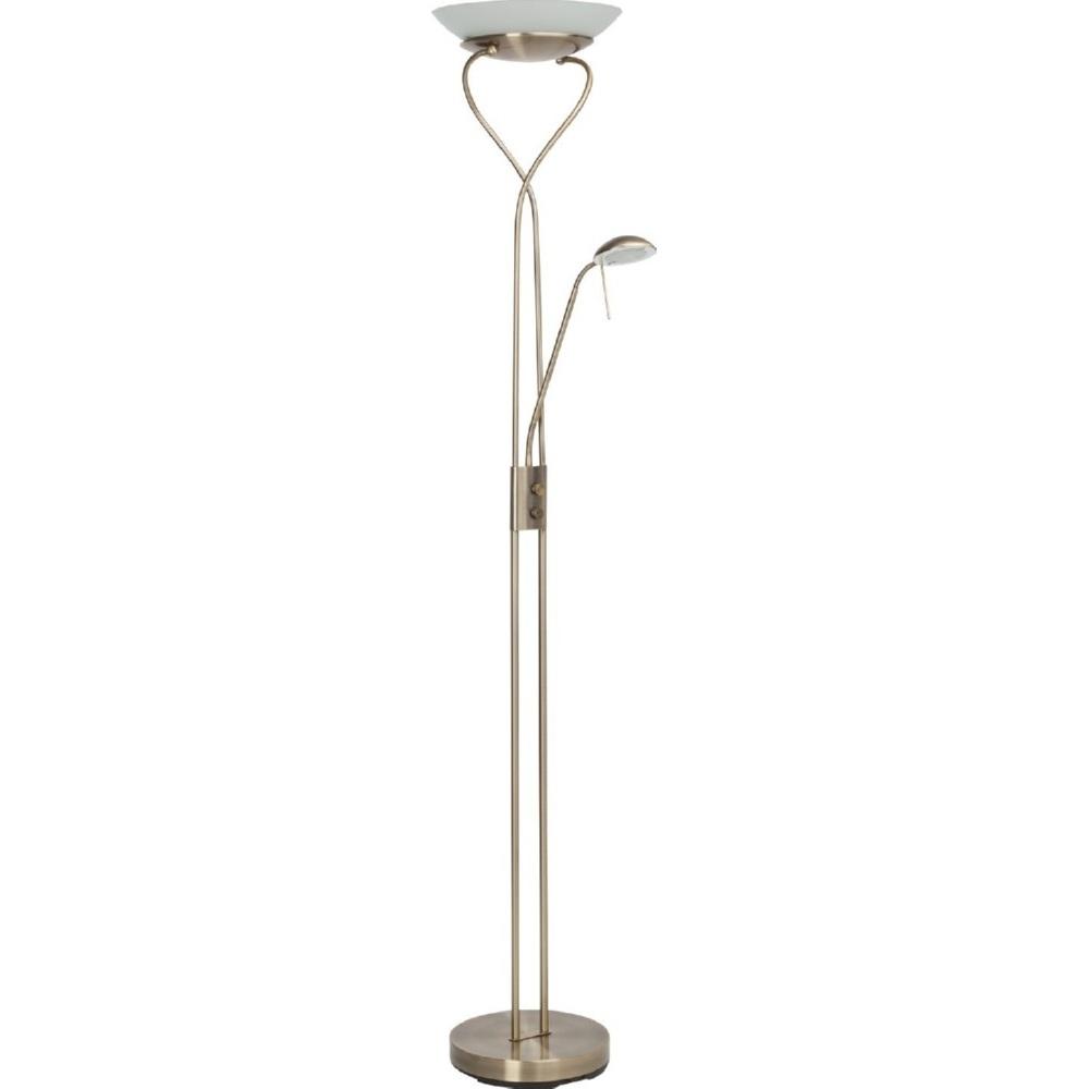 Lampa stojąca Ollie LED antyczny mosiądz