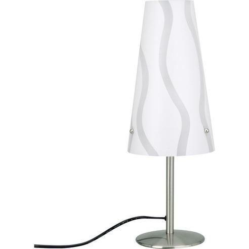 Lampa stołowa klasyczna Isi Biała Brilliant do salonu i sypialni.