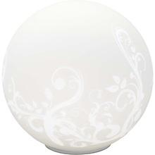Stylowa Lampa stołowa szklana kula Bona Biała Brilliant do salonu i sypialni.
