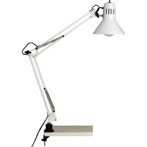 Lampa biurkowa z uchwytem Hobby Biała Brilliant do czytania i na biurko.