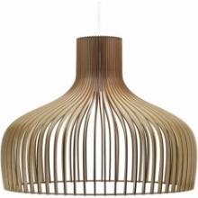 Duża lampa ze sklejki wisząca Goblet 60 PLYstudio do salonu w stylu skandynawskim