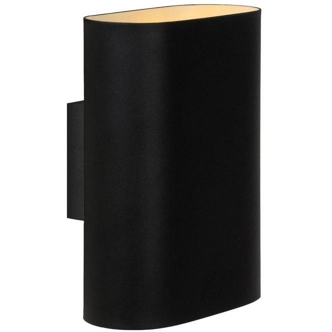 Kinkiet ścienny Ovalis 8 Czarny Lucide do salonu, sypialni i przedpokoju.