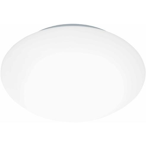 Stylowy Plafon szklany okrągły Djerba 24 Biały Brilliant do kuchni, salonu i sypialni.