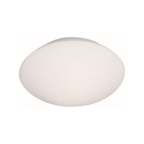 Stylowy Plafon szklany okrągły Djerba 26 Biały Brilliant do kuchni, salonu i sypialni.
