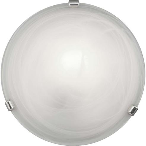 Stylowy Plafon szklany okrągły Mauritius 30 Biały Brilliant do kuchni, salonu i sypialni.