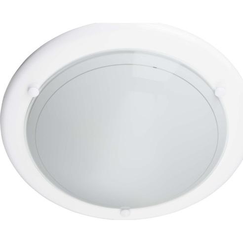 Stylowy Plafon szklany okrągły Miramar 31 Biały Brilliant do kuchni, salonu i sypialni.