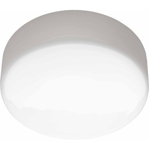 Stylowy Plafon szklany okrągły Isar 25 Biały Brilliant do kuchni, salonu i sypialni.