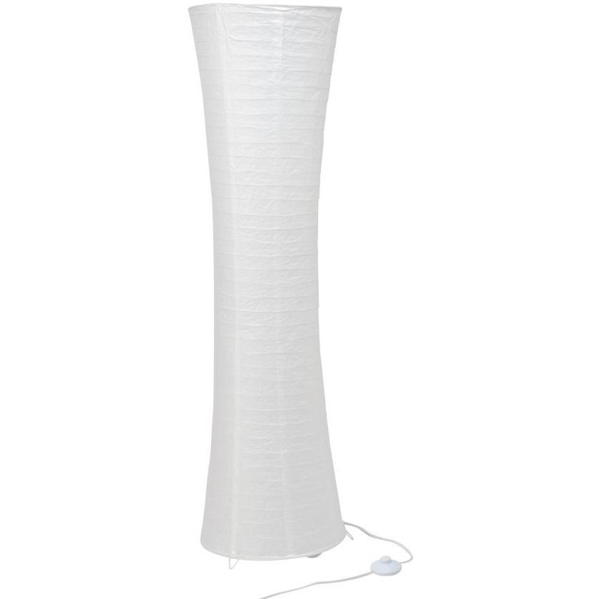 Lampa podłogowa papierowa Becca 35 Biała Brilliant do czytania, salonu i sypialni.