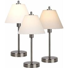Stylizowana Lampa stołowa antyczna Touch Satynowy Chrom Lucide do hotelu i restauracji.