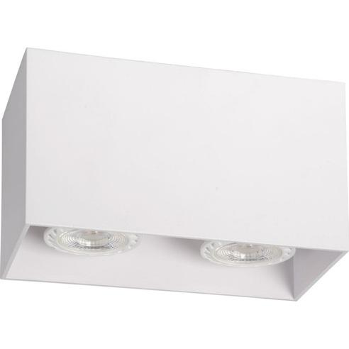 Lampa Spot podwójna Bodi II Kwadratowy Biały Lucide do kuchni, przedpokoju i i salonu.